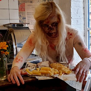 zombie scare actor hire uk