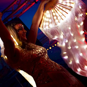 LED glow circus performers hire