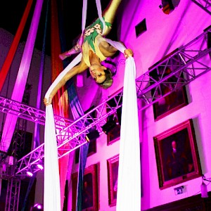 aerial circus performer hire uk