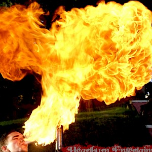 circus fire breather uk