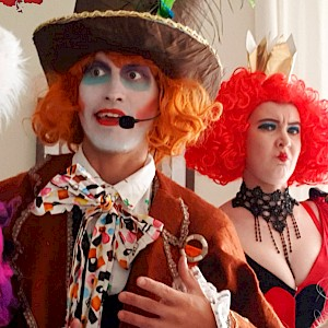 hire Alice in Wonderland stilt walkers uk