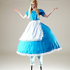 Alice in Wonderland themed stilt walker uk