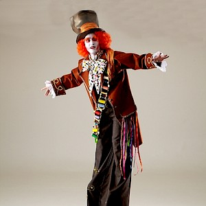 Mad hatter stilt walker uk