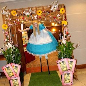 alice in wonderland stilt walker hire uk