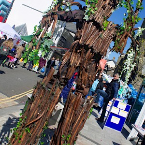 tree stilt walker london