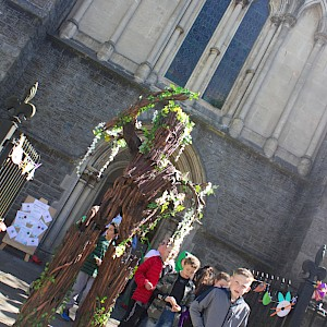 stilt walking tree