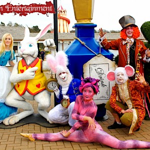 alice in wonderland characters hire uk