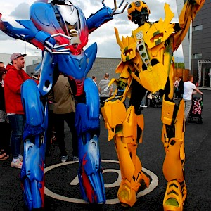 Tranformers hollywood themed event entertainment