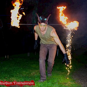 enchanted woodland fire performer hire uk