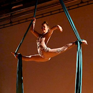 twisted circus aerial performer hire uk