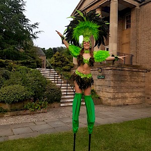 rio carnival stilt walkers hire uk