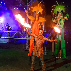rio carnival stilt walkers UK