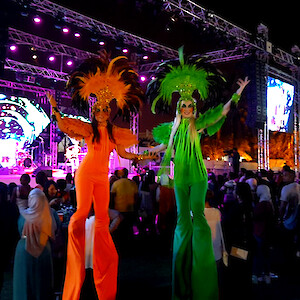 hire rio carnival stilt walkers uk