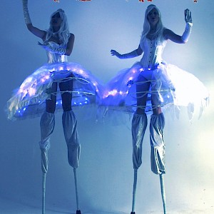 Bat Mitzvah LED stilt walker hire