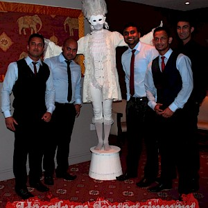 hire indian wedding living statue