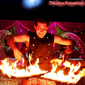hire indian wedding fire show