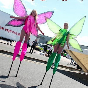 hire easter stilt walkers uk