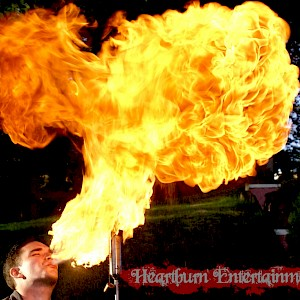 caribbean themed fire breather hire uk