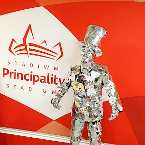 mirror man performer hire wales